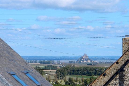 Le vue sur Mont St Michel de la maison au Val St Revert